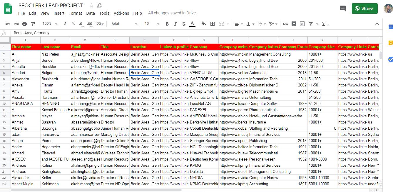 Email List Building Using LinkedIn Sales Navigator