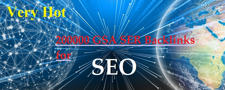 200000 GSA SER Backlinks for SEO