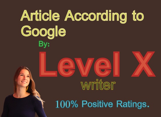 Article According to Google- By Level X Writer