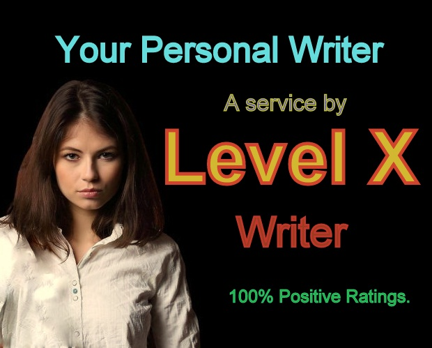 """""""Your Personal Writer"""" a service by Level X"""