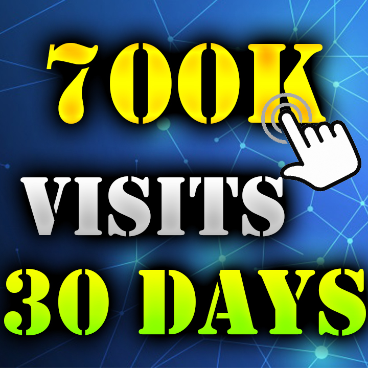 700.000+ Visitors Search engine & Social Media to your Website