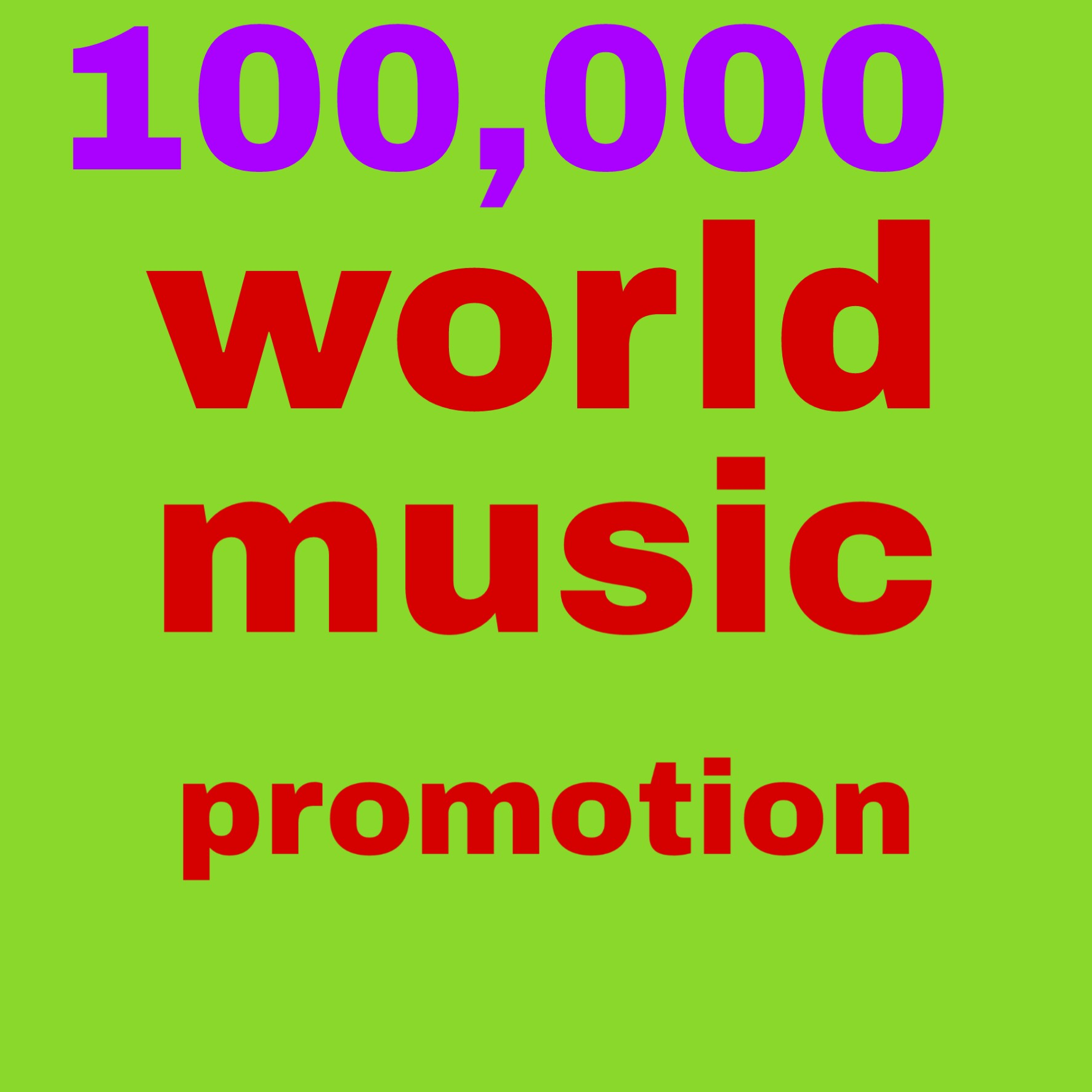 100,000 music video promoteion fast delivery high quality non drop lifetime guaranteed