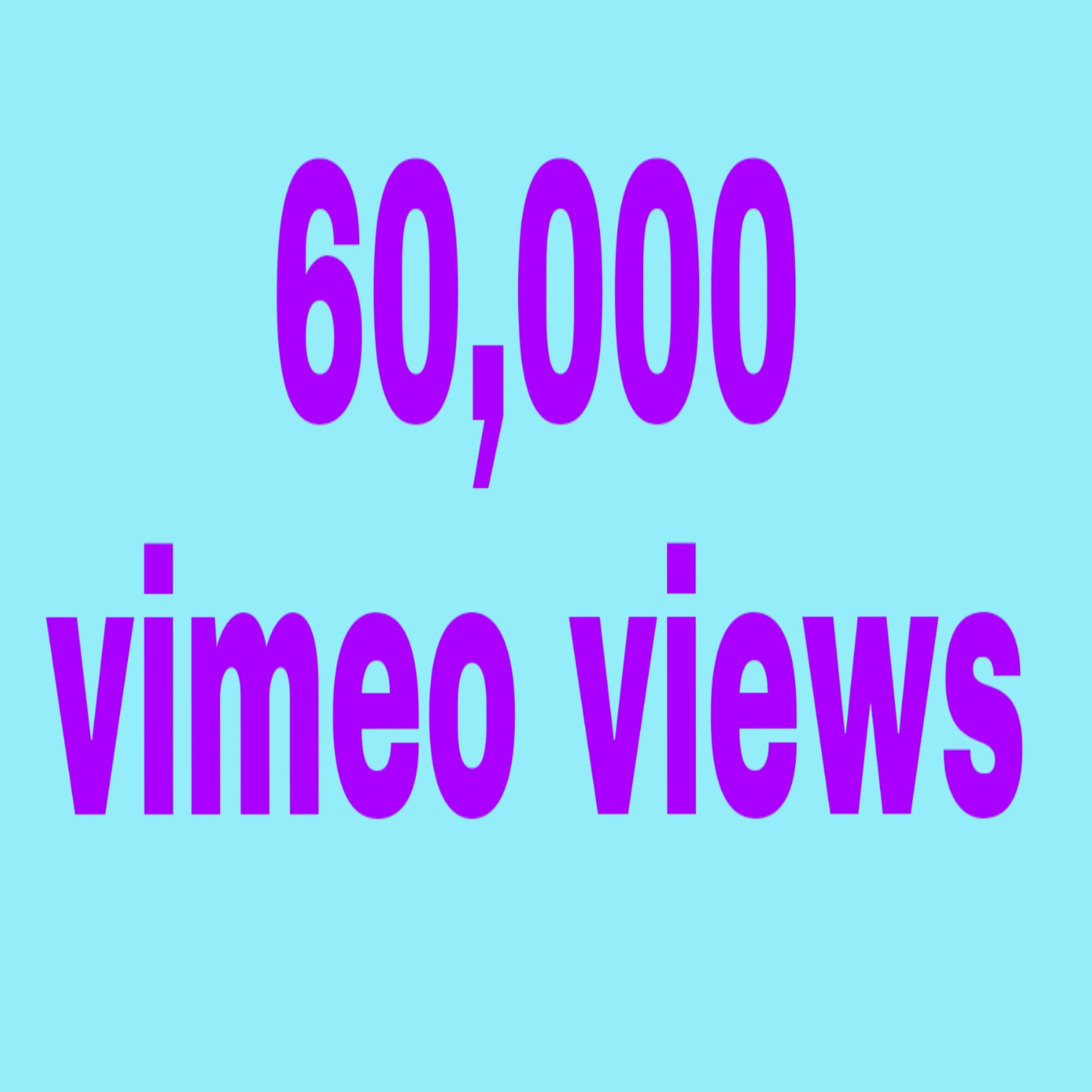 60,000 vimeo video hits non drop with fast delivery