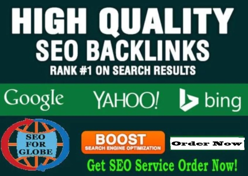 Provide off page SEO high quality Links improve your website