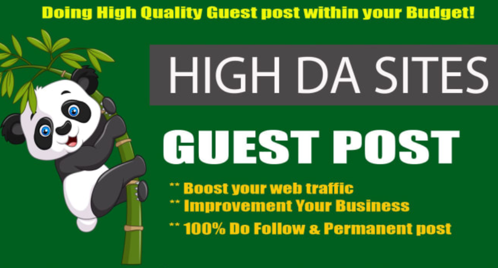 Write and Publish 6 Guest Post Backlinks On DA 90 to 20