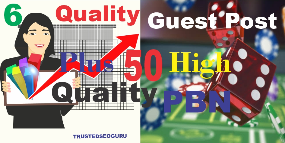 50 Permanent Homepage PBN manually done with 6 Top-notch Guest Post Package - Skyrocket Your website