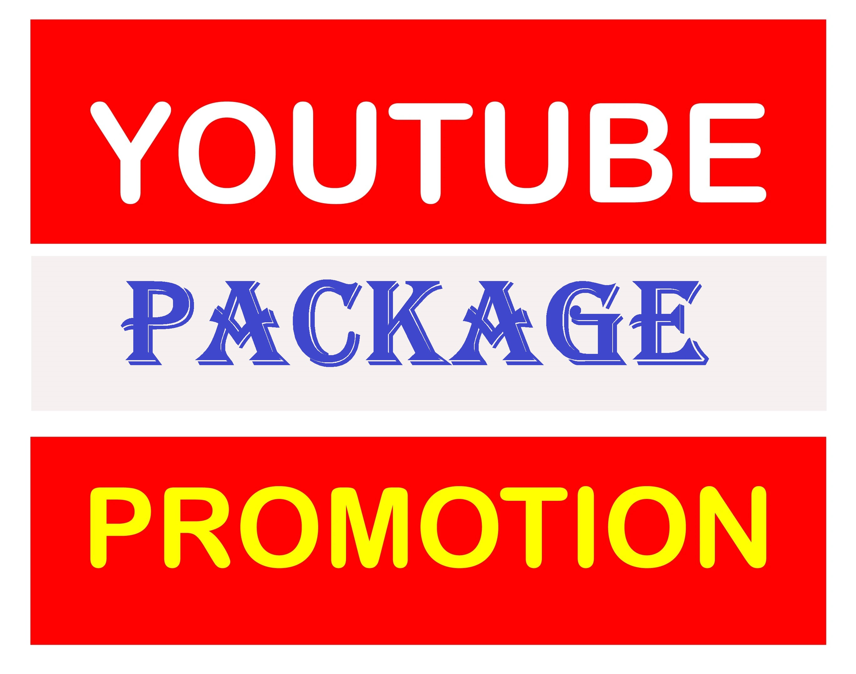Natural Manually YouTube Video Promotion Pack All In One Super Fast