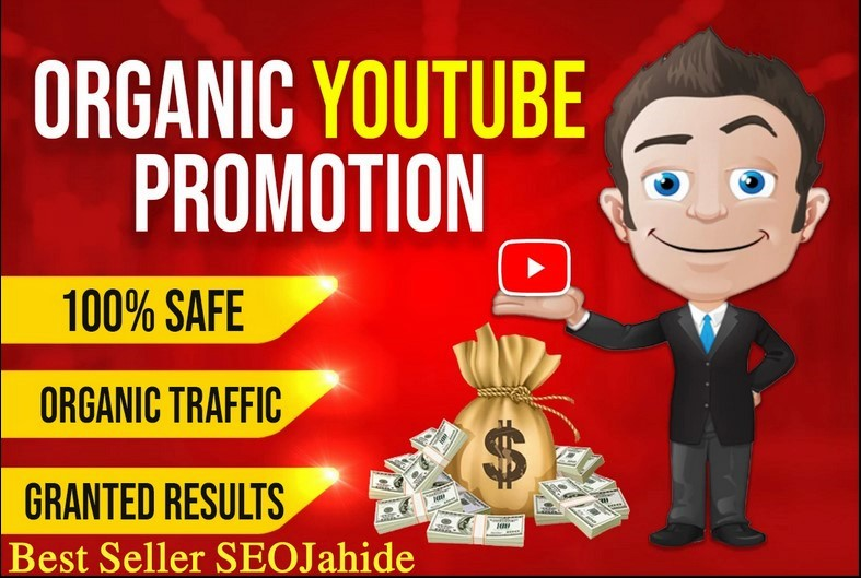 ORGANIC YOUTUBE VIDEO PROMOTION and Get Rank Via Ral Audience