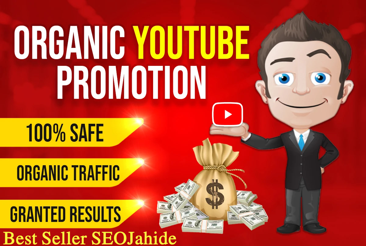 MANUALLY AND FAST YOUTUBE VIDEO OR CHANEL PROMOTION VIA REAL USER