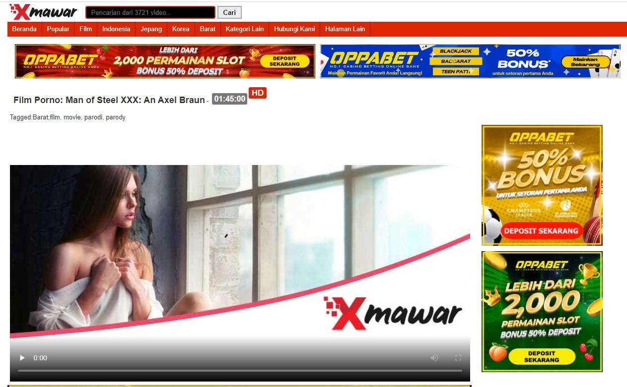 xmawar. com Porn Adult Indonesia Banner Ads