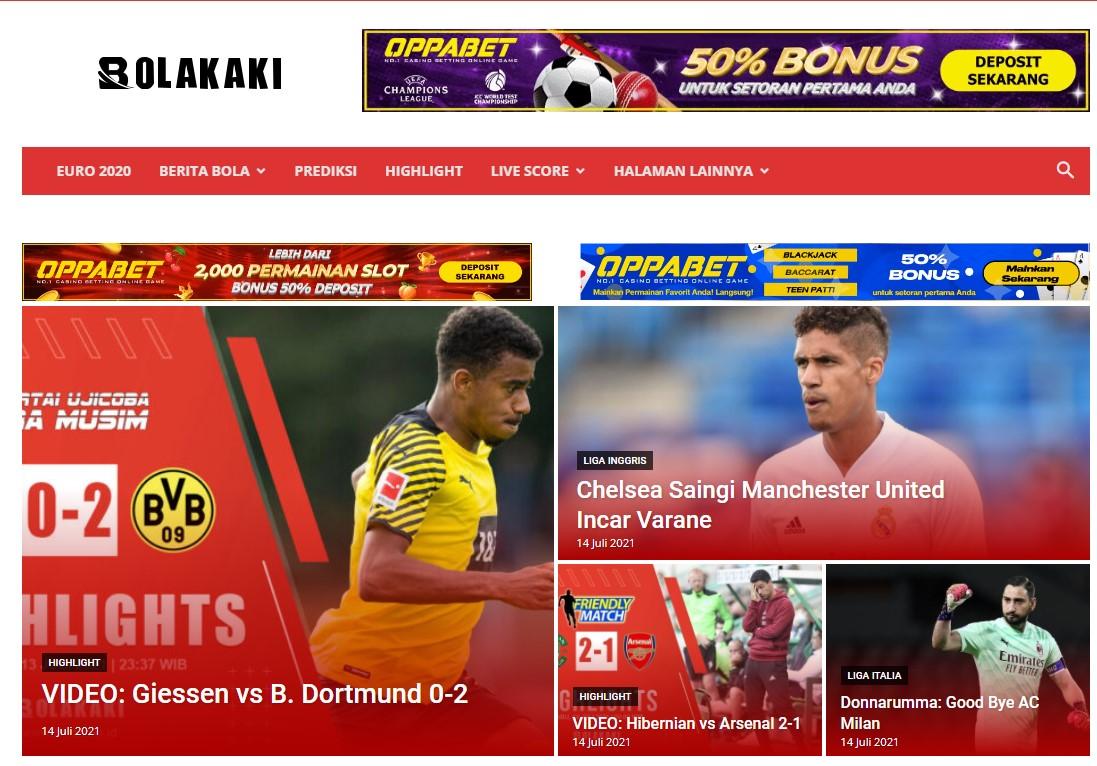 bolakaki. id Soccer Website Banner