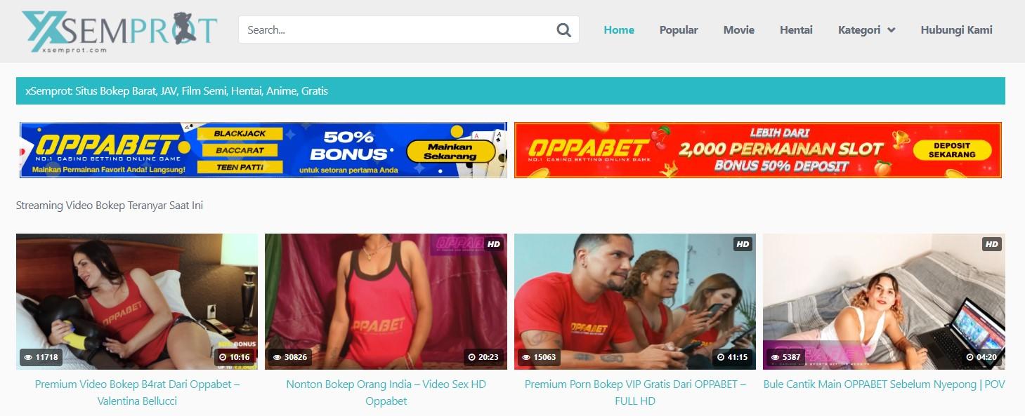 xSemprot. com Porn Adult Indonesia Banner Ads