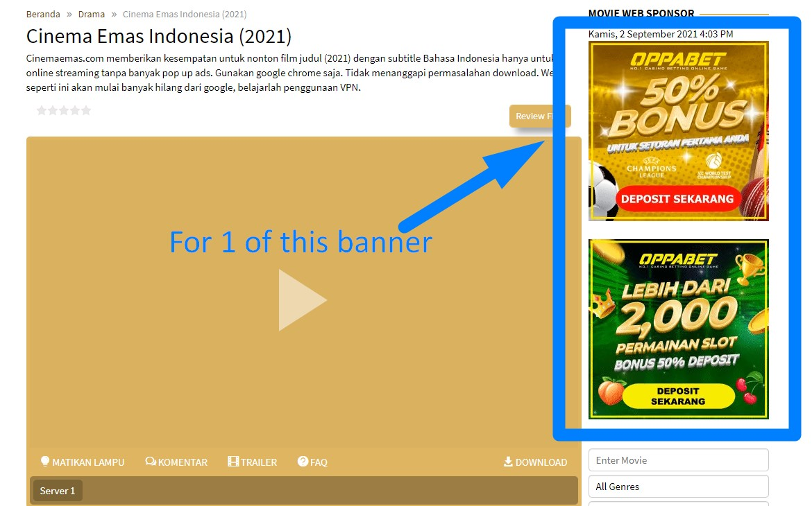 Right Side Square Banner Cinema Emas Indonesia