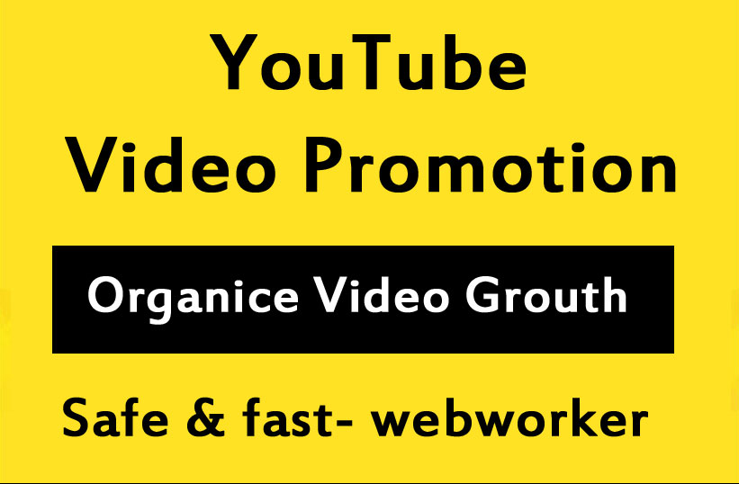 Organic YouTube video Promotion Through Real People