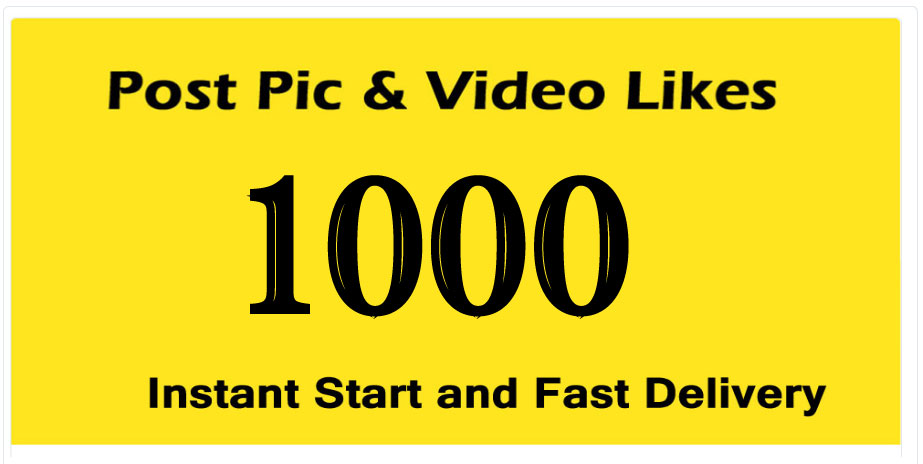 1000 Pictures Post video Promotion and Marketing with instant Delivery