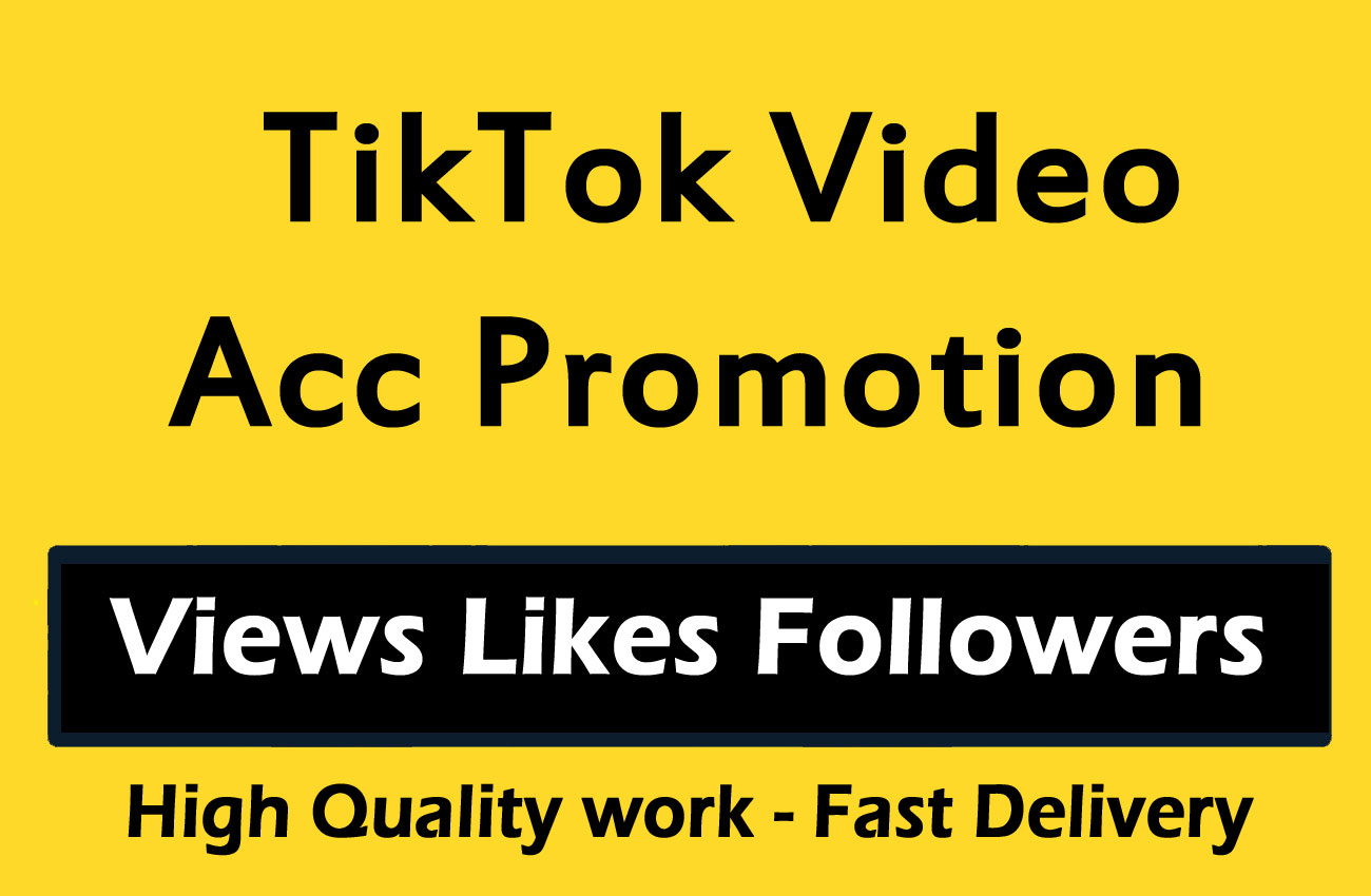 TikTok Video Account Promotion and Marketing via social media promotion