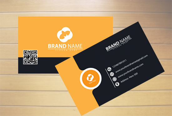 I will Do Custom Design Business Card with QR Code