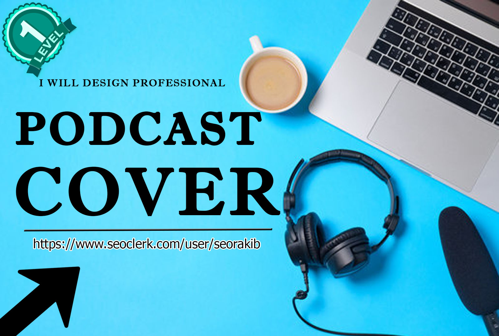 I will do professional podcast cover art design