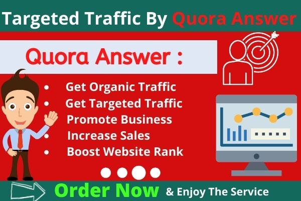 Promote website With High Quality Quora answer backlinks & 100+ UpVote
