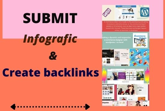 I will create 5 backlinks with infografic for your website
