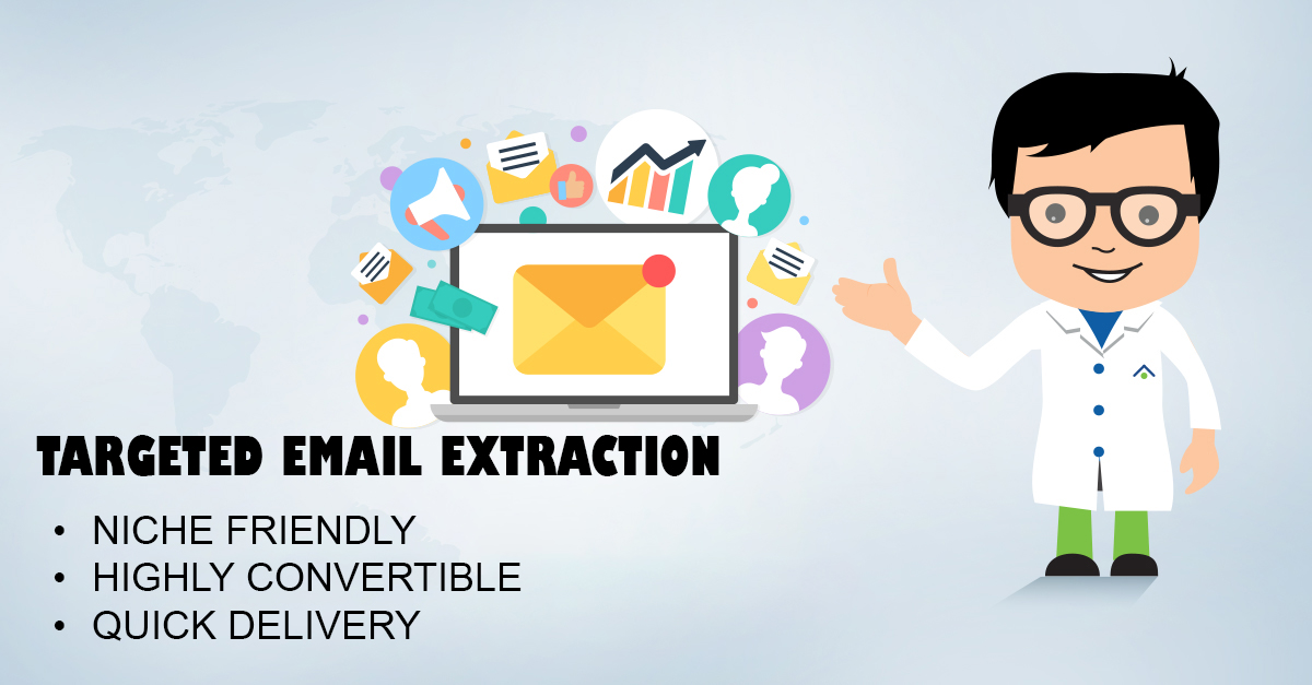 I will targeted friendly emails extract niche