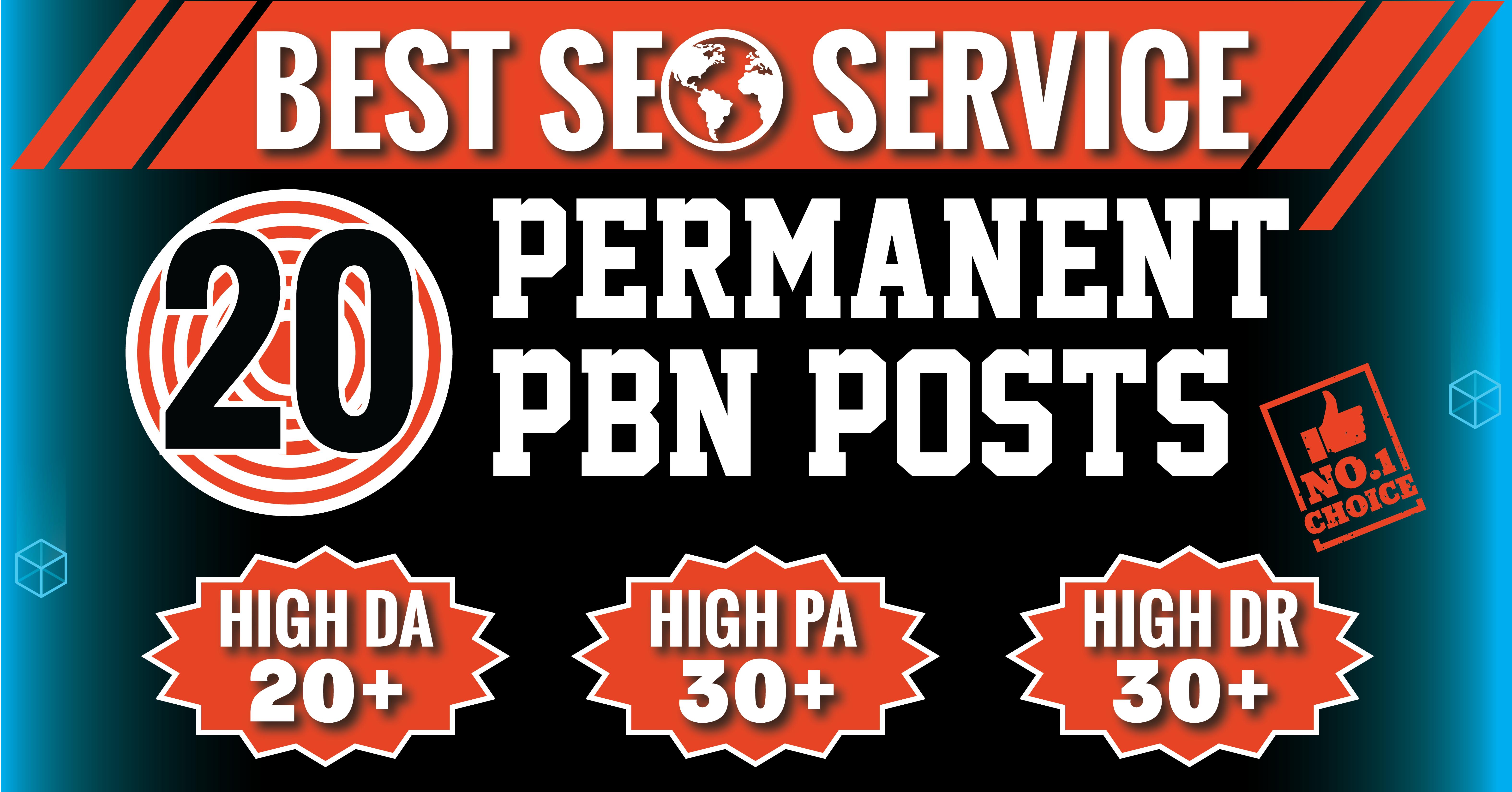 Permanent 20 Manual High DA PA TF CF 40 to 20 Homepage PBN Backlinks