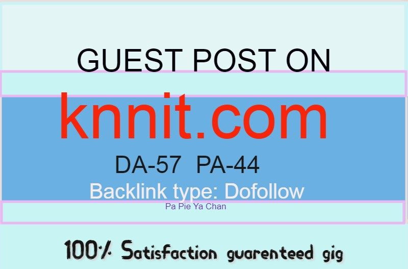 Publish a guest content on knnit. com with Dofollow backlink DA-57