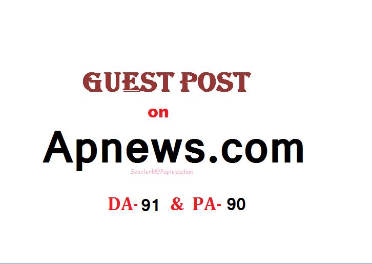 Publish Press Release content On APnews. com DA 91