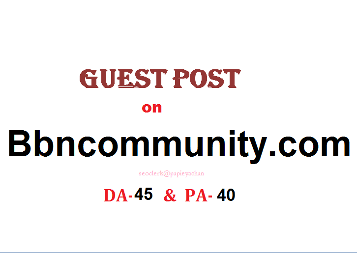 Able to publish Guest content on Bbncommunity. com Dofollow
