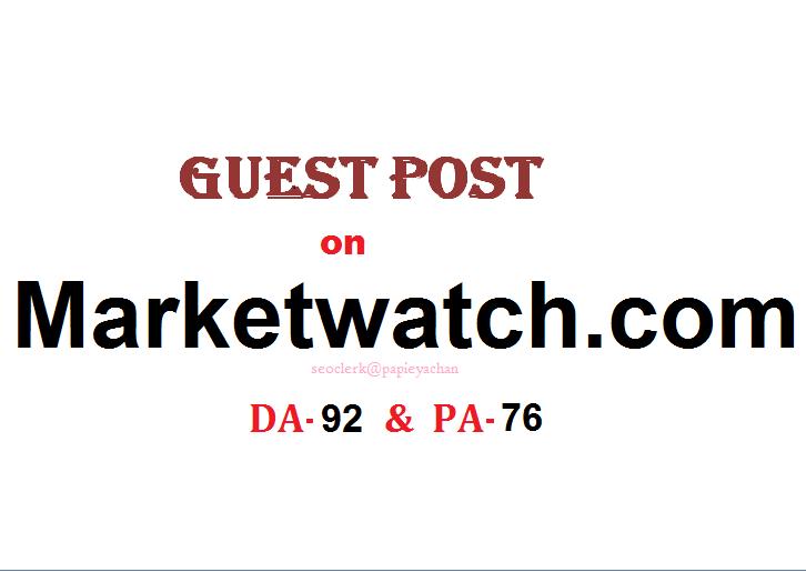 Publish Content/press release on marketwatch Dofollow DA-92