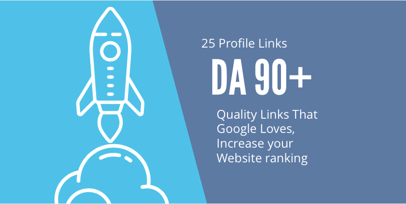 Make Manually Profile BackLinks 25+ All DA 80+ for boosting Link Profile