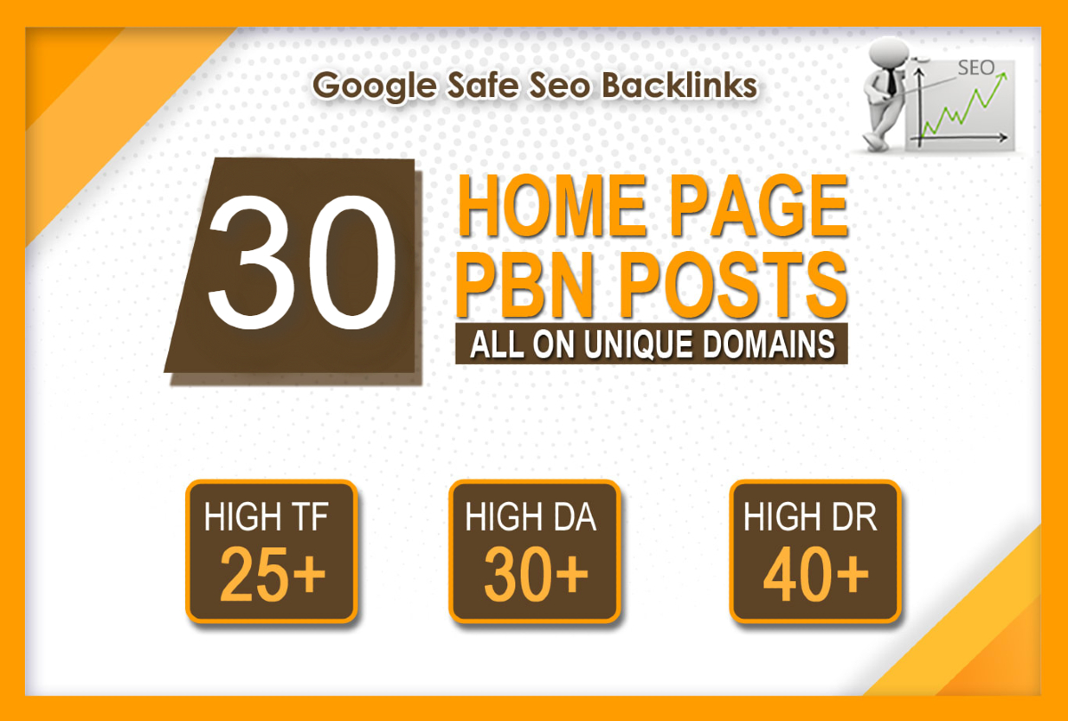 Do Parmanent 30 Homepage Pbn Links High DR/TF/DA Post