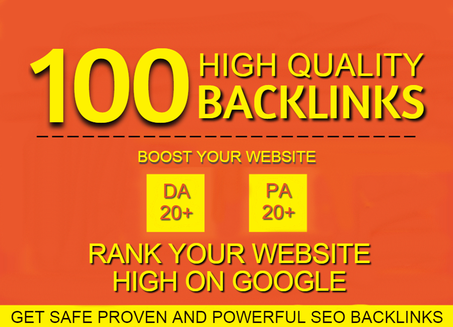 Get 100 Manual high Quality backlinks with Rank website High On Google