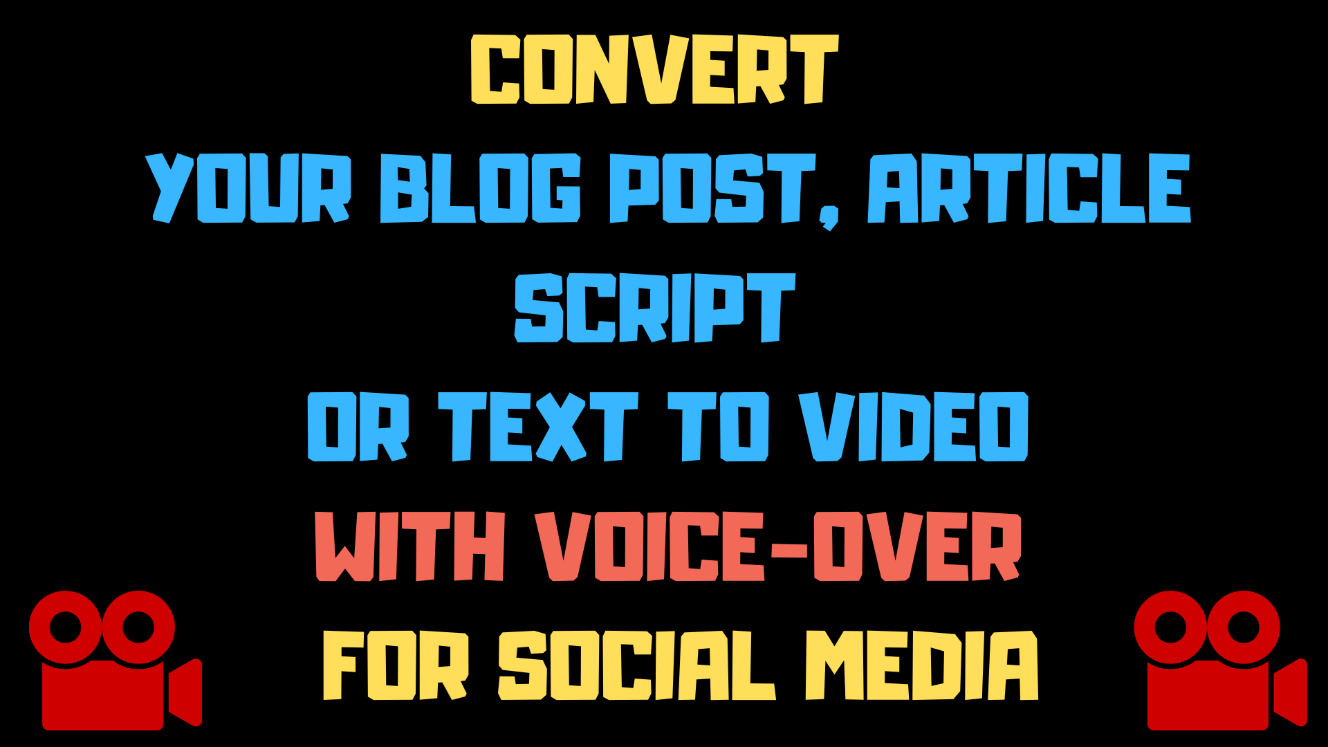 I will convert your article or blog post to video with voice-over for social media