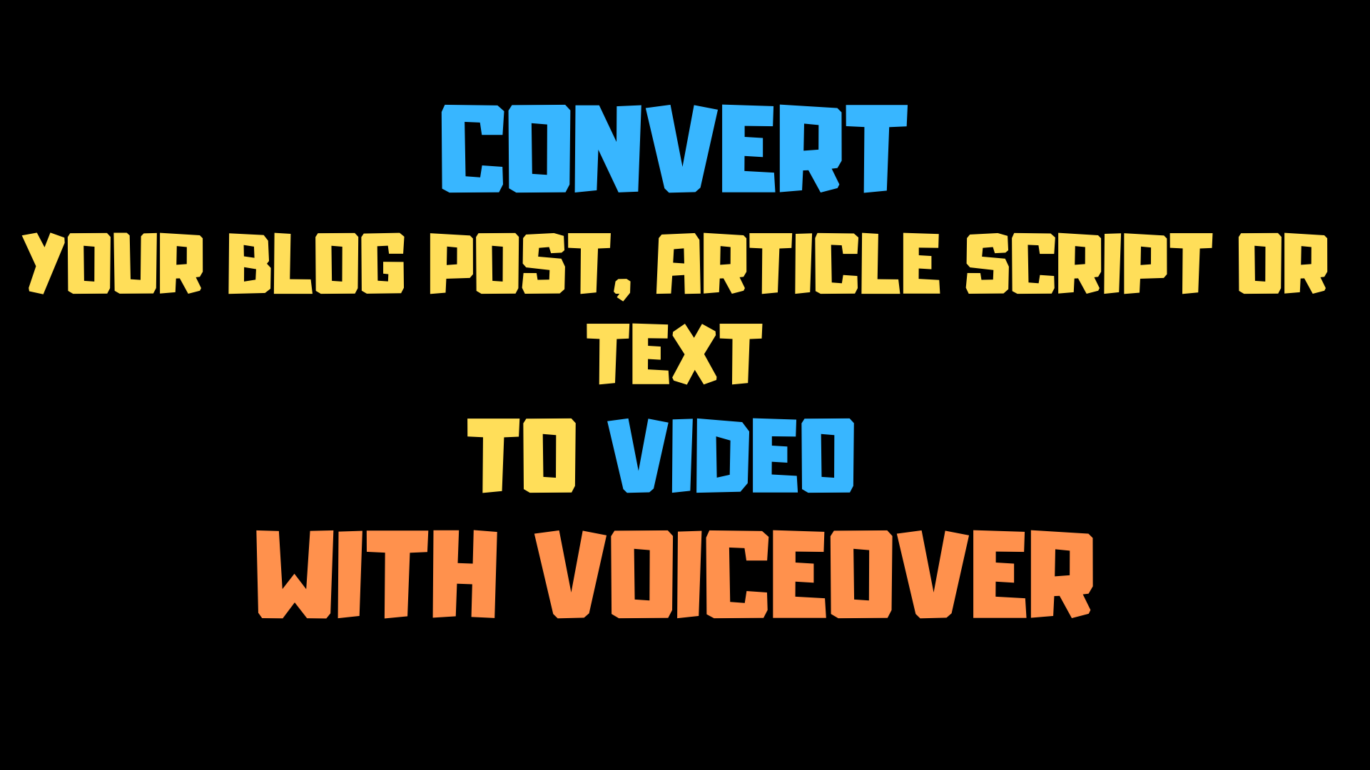 I will create one stunning 60 sec HD videos from your articles or blog posts