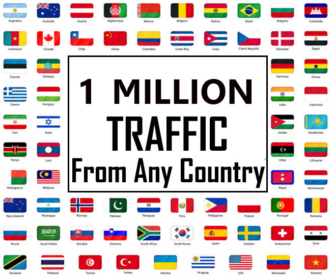 1 Million Targeted Website Traffic from any country with Low bounce,  Keyword focused