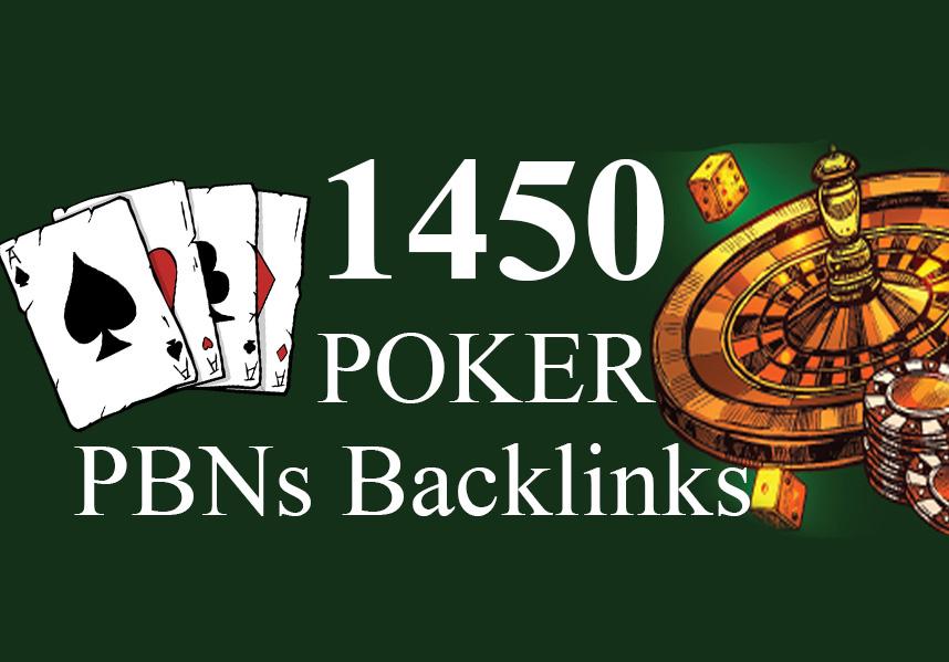 1450 Niche Pbns backlinks Casino,  Gambling,  Poker,  Slot,  Betting,  Judi Related - Manual work