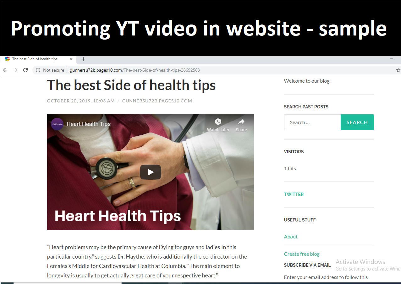 Viral YouTube Video Promotion and promotions in websites
