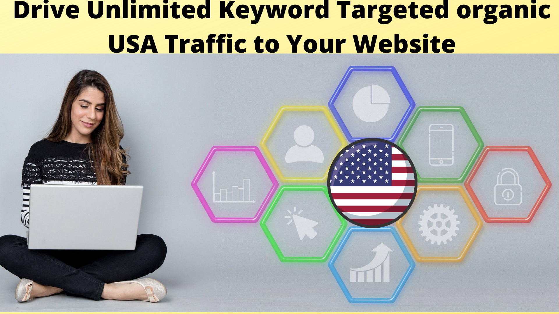 I Will Drive Unlimited keyword targeted organic usa traffic to your website