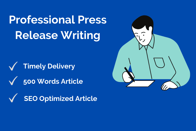 I Will Write A Press Release To Help Promote Your Business