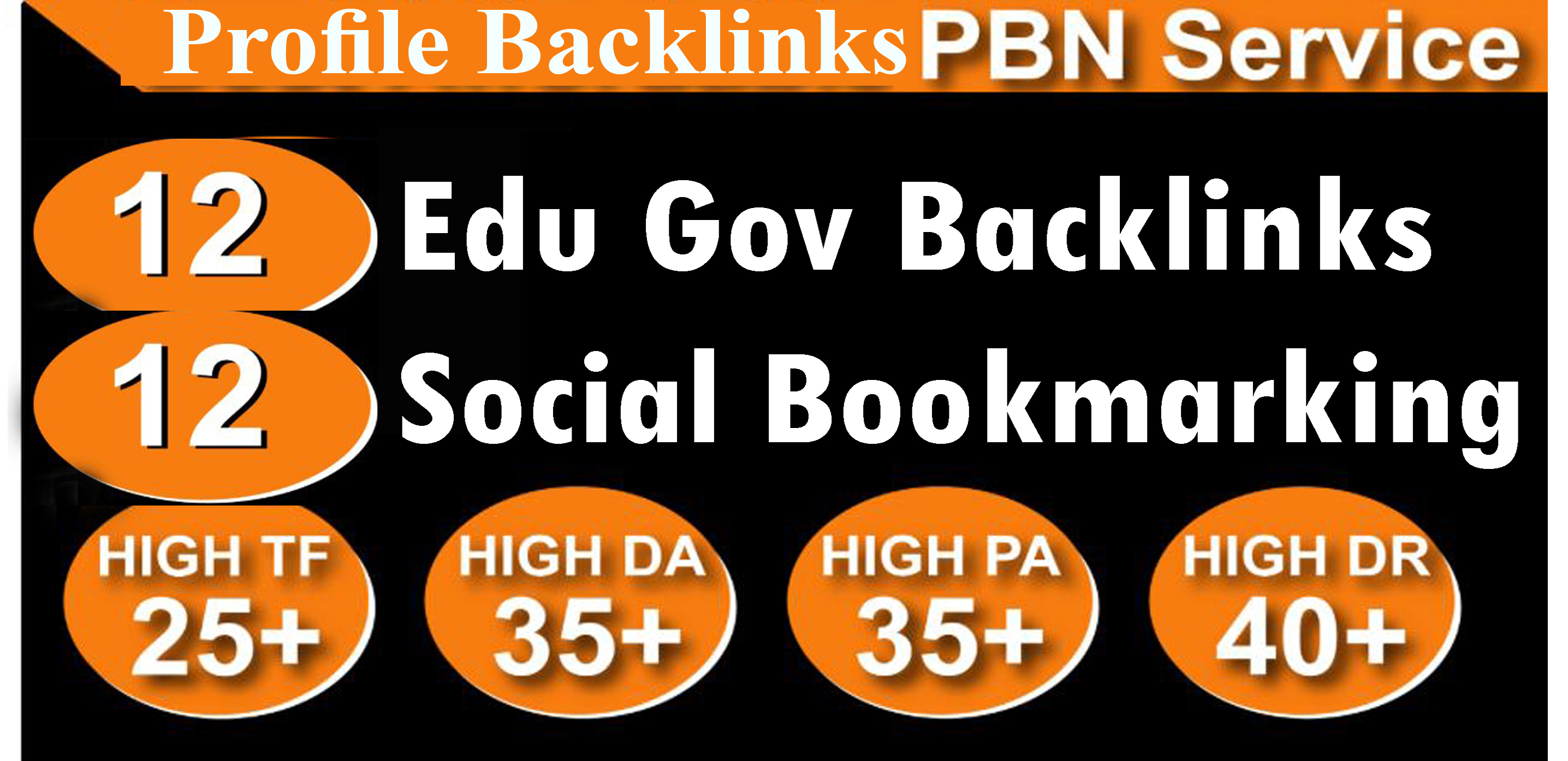 Create 12 Unique edu gov High Quality Backlinks