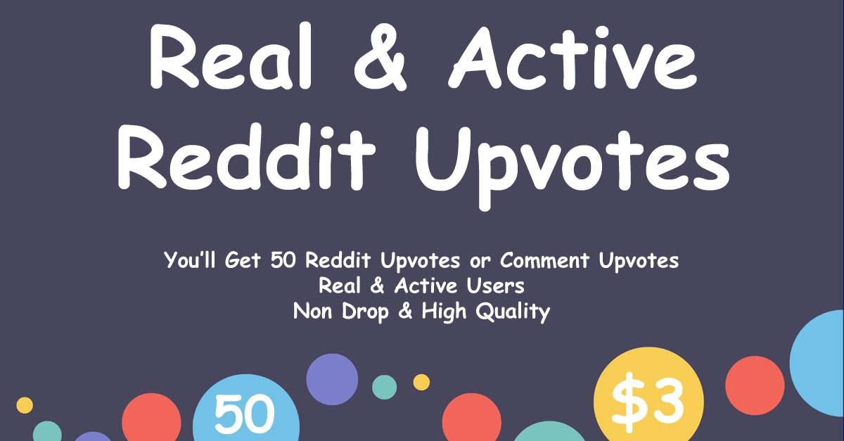 Buy 50 Reddit Upvotes or Comment Upvotes
