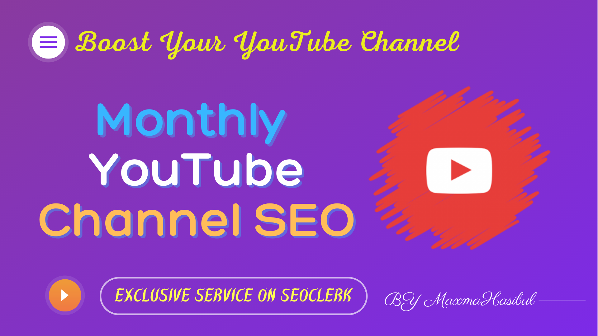 I'll Be Your YouTube SEO Manager For a Calendar Month Monthly YouTube SEO