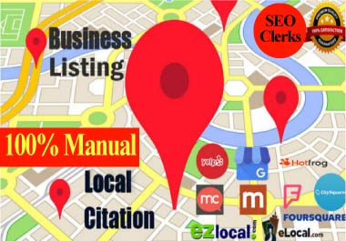 Manual 30 Local Citation, directory submission, business listing. google maps citation, local business