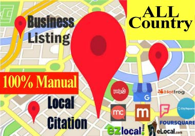 25 Local Citation,directory submission,business listing, local SEO, Any Country