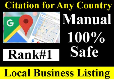 Manual 200 Google Maps citation for local SEO, business listing, directory submission