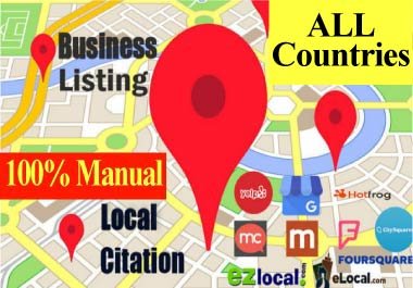 35 USA,  UK,  CA,  AUS Citation for local SEO,  Local Listing,  Business listing, Directory Submission