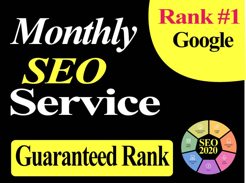 Guaranteed 1st page Monthly SEO Service Advance White Hat must rank, get more traffic and sales