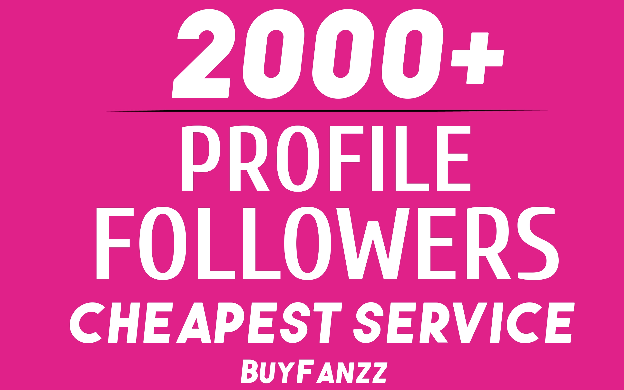 Add Fast 2000+ Profile Followers NON DROP