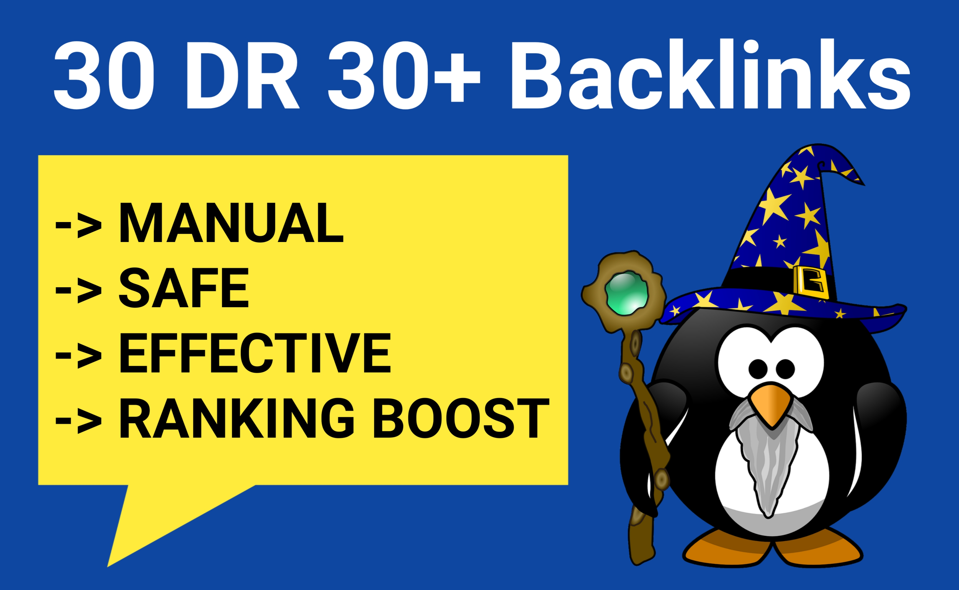 Google SEO High Authority Backlinks Manual Work